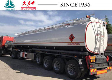 ADR Standard Fuel Tanker Trailer 45000 Liters Capacity With Airbag And Lifting